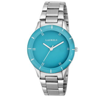 Laurels Cyan Color Analog Women's Watch With Metal...