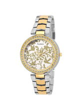Austere Premium Quality Gold Color Analog Women's Watch With Metal Chain (AWW-KTA-060706)