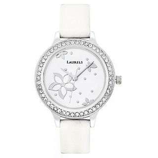 Laurels White Color Analog Women's Watch With Stra...