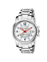 Laurels Invictus Day Date White Dial Men's Wrist Watch (LMW-INC-010707)