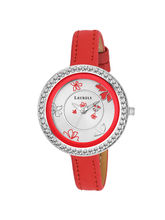 Laurels Beetle Red Dial Analogue Women Wrist Watch...