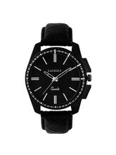 Laurels Black Color Analog Men's Watch With Strap ...
