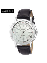 Laurels Veteran Silver Dial Men Watch (Lo-Vet-102), silver, black