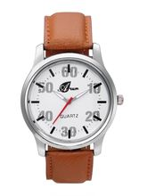 Arum Stylish Brown Strap Watch For Men (AW-102)
