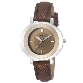 Laurels Brown Color Analog Women's Watch With Stra...