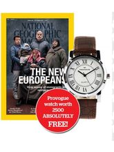 National Geographic Magazine 1 Yr Subscription + FREE Provogue Watch worth 2500.