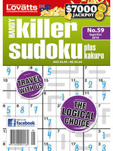 Handy Killer Sudoku, 1 year, english