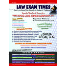 Law Exam Times: Indias 1st National Law Quarterly, 1 year, english