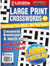 Large Print Crosswords, 1 year, english