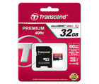 Transcend 32GB Premium microSDHC Class10 Memory Card with Adapter 60 MB/s (TS32GUSDU1)