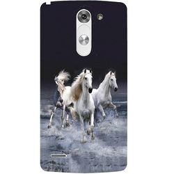 Casotec Mystic Horse Design Hard Back Case Cover for LG G3 Stylus D690