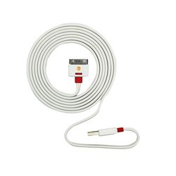 Advent Basics Griffin i Phone Flat Wire USB Charging Cable 3.0 USB,  white