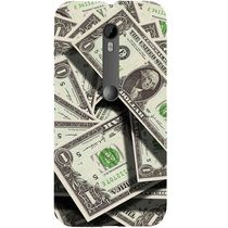 Casotec Dollar Design Hard Back Case Cover for Motorola Moto G 3rd Generation