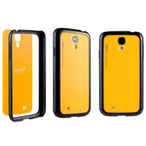 TOTU Rainbow Series Cover for Samsung Galaxy S4, black yellow