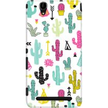 DailyObjects Colorful Cacti Garden Case For Sony Xperia T2 Ultra