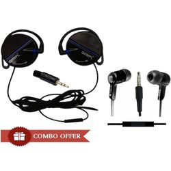 Quantum QHM5507H Stereo Handsfree 3.5mm Combo,  black blue