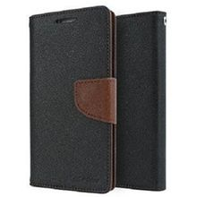 Akshim Flip Cover for Xiaomi Redmi 2s / Redmi 2 Prime, black-brown