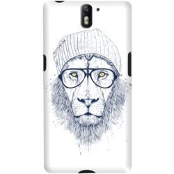 DailyObjects Cool Lion White Case For OnePlus One