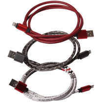 Callmate Leather Data Cable For iPhone 5 & 6, assorted color