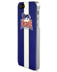 Lonsdale Glossy Hard Case Red+ Screen protector - iP 5/5S,  blue