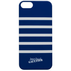 Jean-Paul Gaultier back cover Mariniere design– Hard Case for iPhone 5/5S, white-navyblue
