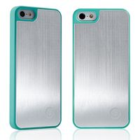 TOTU Color Aluminum Cover for iPhone 5, blue sliver