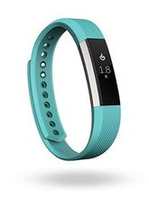 Fitbit Alta Fitness Tracker Band Large (Silver Teal)