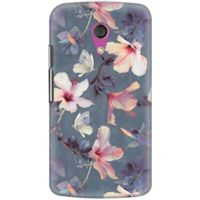 DailyObjects Butterflies And Hibiscus Flowers Case For Motorola Moto G2