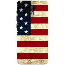 Casotec USA Flag Design Hard Back Case Cover for Micromax Canvas Nitro 4G E455