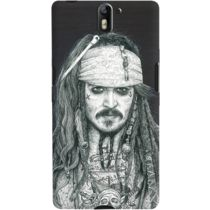 DailyObjects Captain Jack Inked Case For OnePlus One