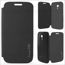 Linkplus Flip Cover for Micromax Canvas HD Bolt A 116,  black