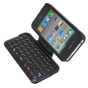 Smiledrive Bluetooth Keyboard With Rotatable Case for iPhone 4/4S,  black