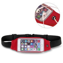 Callmate Waterproof Waistpouch for phone Upto 6 inch,  red