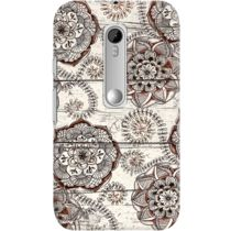 DailyObjects Cocoa Brown And Cream Floral Doodles Case For Motorola Moto G3