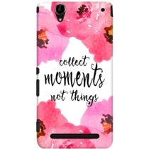 DailyObjects Collect Moments Floral Pink Case For Sony Xperia T2 Ultra