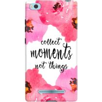 DailyObjects Collect Moments Floral Pink Case For Xiaomi Mi 4i