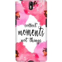 DailyObjects Collect Moments Floral Pink Case For OnePlus One