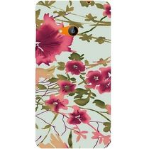Casotec Flower Design Hard Back Case Cover for Microsoft Lumia 535