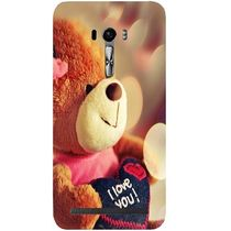 Casotec Teddy Bear Design Hard Back Case Cover for Asus Zenfone Selfie ZD551KL