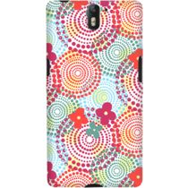 DailyObjects Circles And Flowers Case For OnePlus One