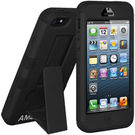 Amzer Dual Layer Hybrid KickStand Case - Black - iPhone 5,  black