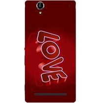 Casotec Love 3D Pattern Design Hard Back Case Cover for Sony Xperia T2 Ultra