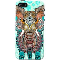 DailyObjects Boho Summer Elephant Blue Case For iPhone 5/5S