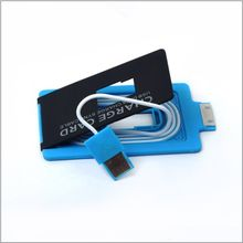 Smiledrive Credit Card Shaped USB Charger for iPhone 4 & 4,  blue