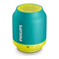 Philips BT50 Wirless Bluetooth Speaker, aqua and yellow