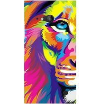 Casotec Lion Design Hard Back Case Cover for Nokia Lumia 730