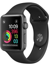 Apple Watch Series 2 - 42 mm Space Gray Aluminum Case with Black Sport Band Black Smartwatch