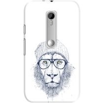 DailyObjects Cool Lion White Case For Motorola Moto G3