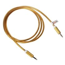 Callmate AUX to AUX Cable TP Metallic - Golden, assorted color