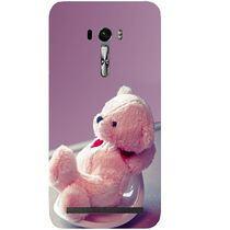Casotec Cute Teddy Bear Design Hard Back Case Cover for Asus Zenfone Selfie ZD551KL